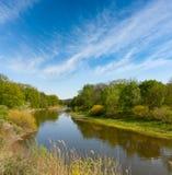 Samara river. Spring Landscape with samara river, Ukraine Royalty Free Stock Photography