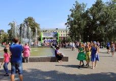 Samara, Rusland - Augustus 24, 2014: de muzikale prestaties van Stock Afbeeldingen
