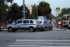 Samara, Rusland - Augustus 21, 2014: de opsluiting van misdadigers A Royalty-vrije Stock Foto