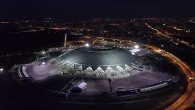 SAMARA, RUSLAND - JUN, 2018: het panorama van de het oogmening van nachtvogels van Samara Arena, Wereldbeker 2018 stock footage