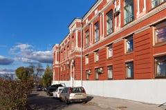 SAMARA, RUSLAND - OKTOBER 12, 2016: Samara Academic Drama Theater die na M wordt genoemd gorky Stock Fotografie