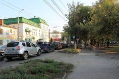 Samara, Russia - 15 agosto 2014: la costruzione L'hotel in Sam Fotografie Stock