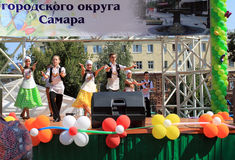 Samara, Russia - August 24, 2014: the musical performance of the Stock Photography