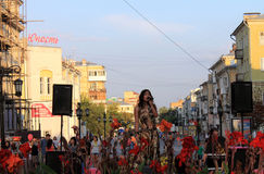 Samara, Russia - August 22, 2014: the musical performance. Unkno Stock Photos
