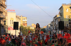 Samara, Russia - August 22, 2014: the musical performance. Unkno Royalty Free Stock Images