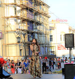 Samara, Russia - August 22, 2014: the musical performance. Unkno Royalty Free Stock Photography