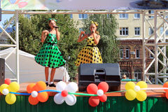 Samara, Russia - August 24, 2014: the musical performance. Unkno Stock Image