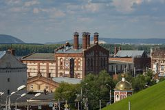 View of the Zhigulevsky brewery in Samara. The factory was built in 1881 stock images