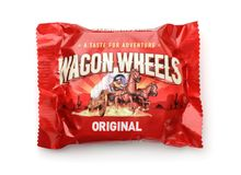 Product shot of Wagon Wheels Original cookie stock photography