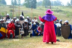 Samara, Russia, the festival of historical Royalty Free Stock Photo