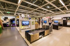 SAMARA, RUSSIA - JULY 20, 2015: A sample of the interior in IKEA store, Samara. IKEA was founded in of Sweden in 1943, IKEA to stock image