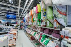 SAMARA, RUSSIA - JULY 20, 2015: A sample of the interior in IKEA store, Samara. IKEA was founded in of Sweden in 1943, IKEA to royalty free stock photos