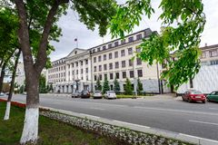 Office building of the Samara Region Duma stock images