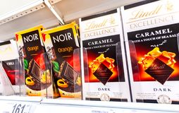 Various fresh chocolate ready for sale royalty free stock photo