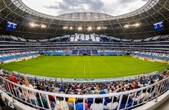 Samara Arena football stadium. Samara, Russia - May 16, 2018: Samara Arena football stadium. Samara - the city hosting the FIFA World Cup in Russia in 2018 stock images