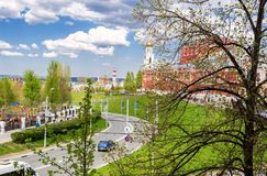 View of Samara street in a spring sunny day Stock Image