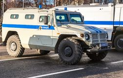 High-mobility vehicles GAZ-23034 Tigr is a Russian 4x4, multipur Stock Photos