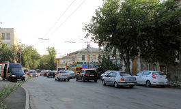 Samara, Russie - 15 août 2014 : carrefours Crossro réglable Photo libre de droits