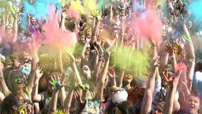 Samara, Russie - 27 mai 2017 festival de Holi de couleurs Photos libres de droits