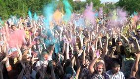 Samara, Russie - 27 mai 2017 festival de Holi de couleurs Image stock