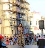 Samara, Russland - 22. August 2014: die musikalische Leistung Unkno Lizenzfreie Stockfotografie