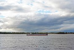 Samara, Russland - 10. August 2017: Volgoneft 256 ist eine Öltanker-meeresflussklasse lizenzfreies stockfoto