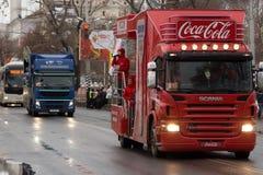 SAMARA, RUSSLAND - 25. DEZEMBER: Olympische Fackel im Samara auf Decemb Lizenzfreie Stockfotografie