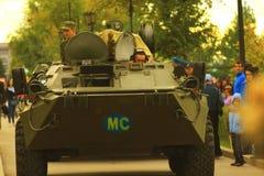Samara, Russland - 11. September 2016 die Anzeige des Kampfes vehic Lizenzfreie Stockfotos