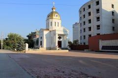 Samara Ryssland - Augusti 15, 2014: kapellet Kapellet i Sama Arkivfoton