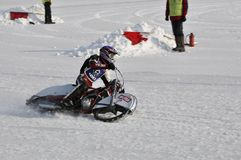 Samara, winter speedway Championship Russia Stock Images