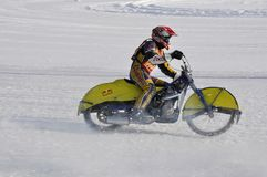 Samara, winter speedway Championship Russia Royalty Free Stock Photos