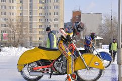 Samara, winter speedway Championship Russia Royalty Free Stock Images