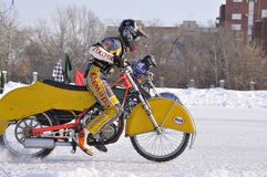 Samara, winter speedway Championship Russia Royalty Free Stock Image