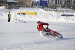 Samara, Winterspeedway Meisterschaft Russland Lizenzfreie Stockfotos