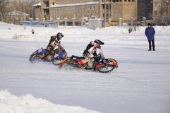 Samara, Winterspeedway Meisterschaft Russland Lizenzfreie Stockfotografie