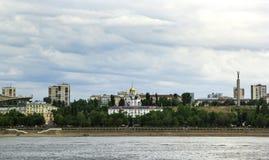 Samarastad och Volga River, Ryssland Fotografering för Bildbyråer