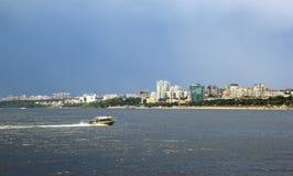 Samarastad och Volga River, Ryssland Arkivbilder