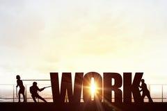 Samarbeta för lyckat arbete royaltyfri bild