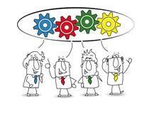 samarbete stock illustrationer