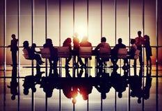 Samarbete Team Concept för affär för möteseminariumkonferens Arkivbilder