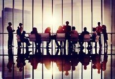 Samarbete Team Concept för affär för möteseminariumkonferens Arkivfoto