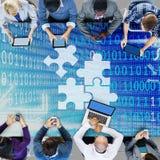 Samarbetsanslutningspartnerskap företags Team Concept arkivfoton