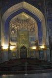 Samarcanda. Registan.Tilya-Kori Madrasah immagine stock libera da diritti