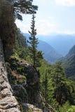 Samaria峡谷风景在克利特-希腊 免版税库存照片