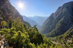 Samaria峡谷,克利特,希腊 免版税图库摄影