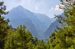 Samaria峡谷,克利特,希腊 图库摄影