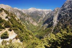 Samaria峡谷,克利特 库存照片