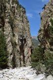 Samaria峡谷,克利特 免版税库存图片