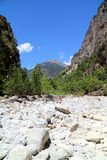 Samaria峡谷 免版税图库摄影
