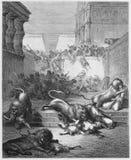 Samaria狮子杀害的奇怪的国家  免版税库存照片